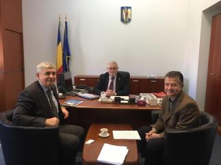 Anton ANTON, Ministrul Energiei, Doru VISAN, Secretar de Stat si Teodor Ovidiu POP, Presedinte IRE